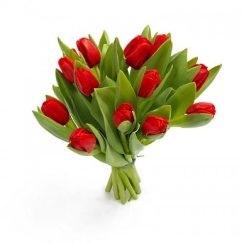Букет из красных тюльпанов (11, 21, 31, 51)