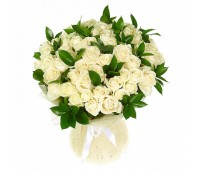 51 белая крымская роза и рускус