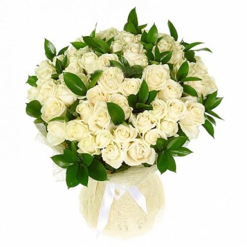 51 белая роза и рускус