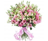 Букет из белой и розовой эустомы (25, 35, 51, 101)