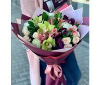 Авторский бекет с орхидеей цимбидиум №2