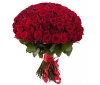 101 голландская красная роза (70 см0