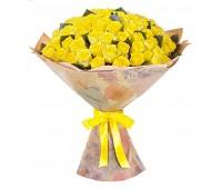 101 голландская жёлтая роза