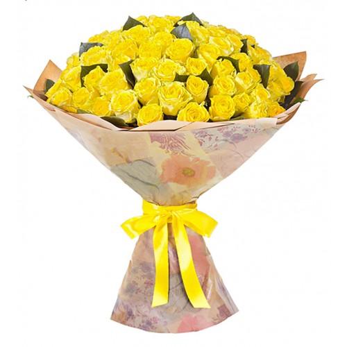 101 крымская жёлтая роза