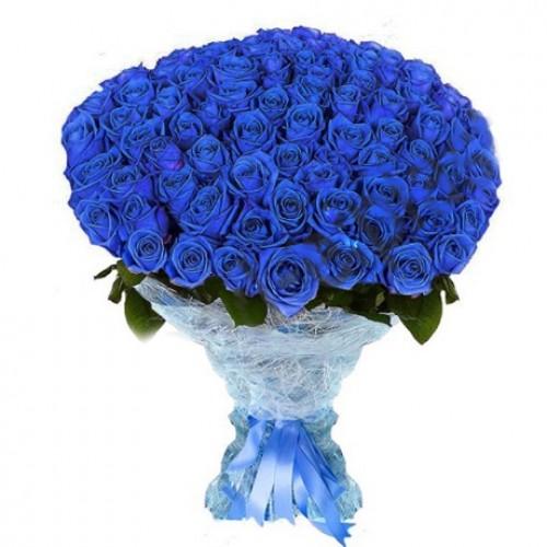 Букет из синих роз (101, 51, 35, 25,15)