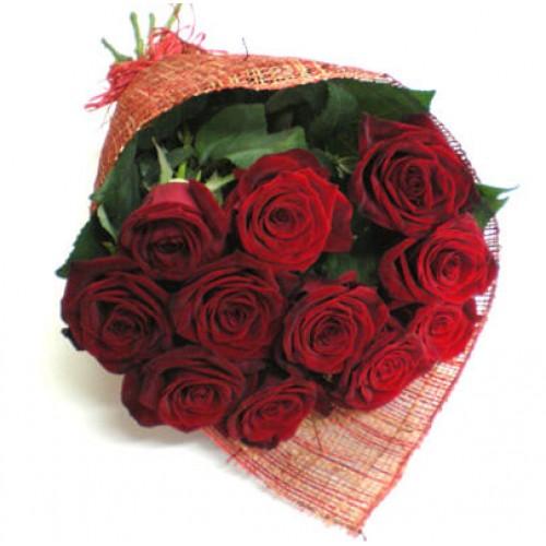 Букет из 11 голландских красных роз
