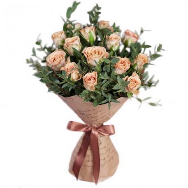 кремовые розы букеты фото