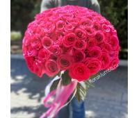 101 малиновая импортная роза