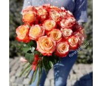 25 импортных персиковых роз