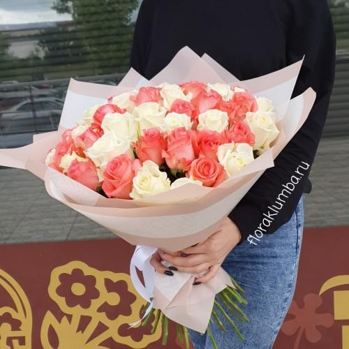 51 белая и розовая крымская роза