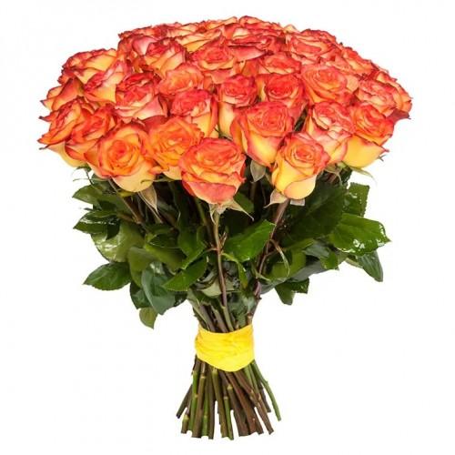 25 оранжевых голландских роз
