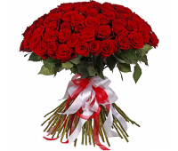 51 голландская красная роза (80 см)
