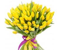 101 желтый тюльпан (от 11 до 101 шт)