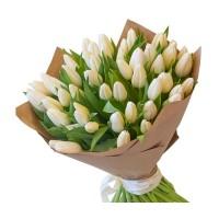 15 белых тюльпанов (11-101)