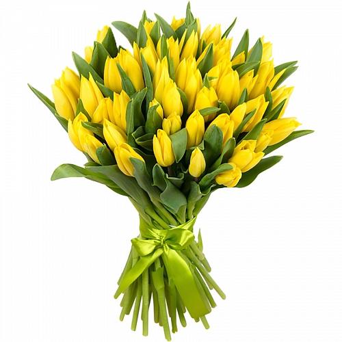 Букет из жёлтых тюльпанов  (15, 25, 35, 51, 101)