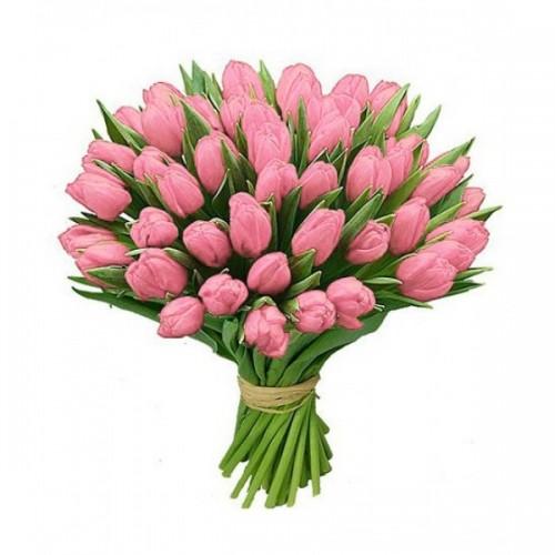 Букет из розовых тюльпанов  (15, 25, 31, 51, 101)